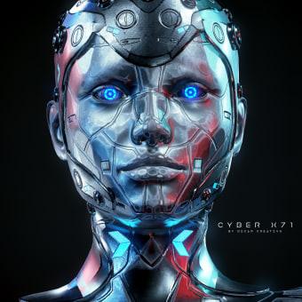 Cyber X71 Model free 3d - Zbrush By Oscar Creativo. A Design, Illustration, Werbung, Motion Graphics, Softwareentwicklung, 3-D, Animation, Design von Figuren, 3-D-Animation, Digitale Illustration, 3-D-Modellierung, Design von 3-D-Figuren, 3-D-Design, 3-D-Lettering und Digitale Zeichnung project by Oscar Creativo - 24.05.2021