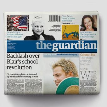 The Guardian: Defining the look of news in the 21st century. Um projeto de Br, ing e Identidade, Design editorial e Web design de Mark Porter - 04.06.2021