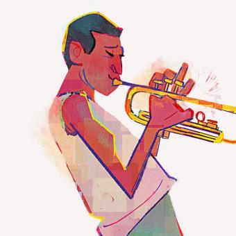 Jazz!. Um projeto de Design de personagens, Esboçado e Ilustração digital de Dan Kelby - 09.06.2021