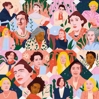 Mujeres en la literatura - Portada Lire Magazine Littéraire. Um projeto de Ilustração, Design editorial e Ilustração editorial de Gisele Murias - 23.06.2021