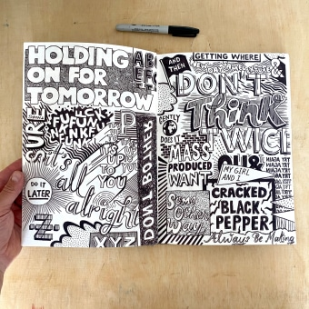 Sketchbook Pages. A Illustration, Grafikdesign, T, pografie, Lettering, H und Lettering project by Adam Hayes - 23.06.2021