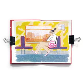 Pages From An Exploratory Sketchbook. A Illustration, Skizzenentwurf, Kreativität, Zeichnung, Aquarellmalerei, Sketchbook und Gouachemalerei project by baviguier - 07.07.2021