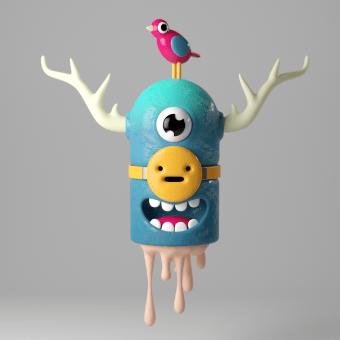 Mi Proyecto del curso: Diseño e ilustración 3D de personajes. A 3-D, Design von Figuren, 3-D-Modellierung und Design von 3-D-Figuren project by Enrique Escalona - 08.07.2021