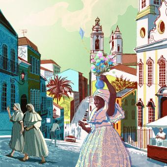 My project in Travel Illustration: Recreate Your Favorite Place course. Um projeto de Ilustração, Desenho, Ilustração digital e Pintura Acrílica de Alex Green - 08.07.2021