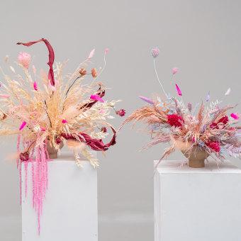 Diseño de centros florales con técnicas de secado y teñido. A Innendesign, L, schaftsbau, Dekoration von Innenräumen und DIY project by Violeta Gladstone - 21.07.2021