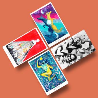 Tarot. Un proyecto de Ilustración, Pintura, Creatividad y Pintura acrílica de Adolfo Serra - 21.07.2020