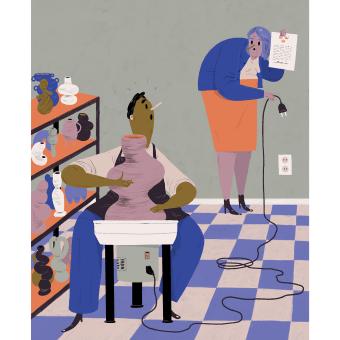 Editorial illustrations: Dagens Nyheter. A Illustration, and Editorial Illustration project by Emma Hanquist - 07.21.2021