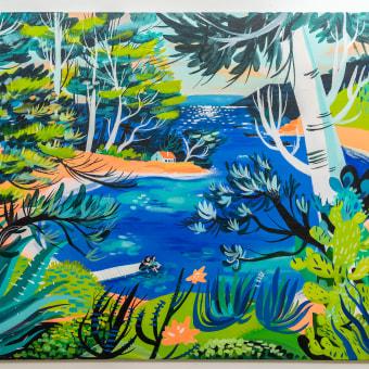 Mi Proyecto del curso: Naturaleza con pintura acrílica: del cuaderno al lienzo . Um projeto de Ilustração, Pintura, Pintura Acrílica e Sketchbook de Maru Godas - 26.07.2021