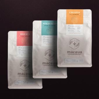 Macaua. A Design, Br, ing und Identität und Verpackung project by Cherry Bomb Creative Co. - 04.07.2021