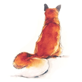 Painting a fox in a loose style from my new watercolour animal kingdom course . A Aquarellmalerei project by Sarah Stokes - 27.07.2021