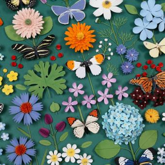 Butterfly Botanica puzzle . A Design, Illustration, Fotografie, Kunstleitung, Verlagsdesign, Bildende Künste, Verpackung und Produktdesign project by Diana Beltran Herrera - 03.08.2021