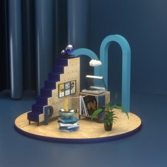 PROYECTO ANTOLOGÍA DE GUSTOS PERSONALES. A 3-D, Digitale Illustration, 3-D-Modellierung und 3-D-Design project by Luis Plaza - 16.08.2021