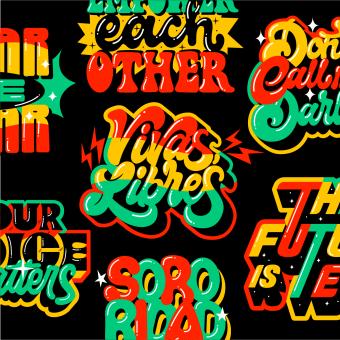 Womens International day Sticker Set + Lettering. A Design, Illustration, Kunstleitung, Lettering und Digitales Lettering project by Ana Moreno - 03.04.2021