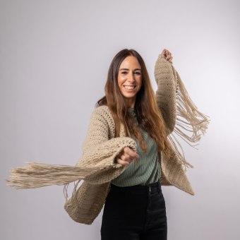 CHAQUETA TOP DOWN CON FLECOS SP. A Modedesign, Weben, DIY und Crochet project by Estefa González - 01.09.2021