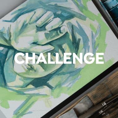 Challenge: ¿se puede pintar un retrato con un solo color?