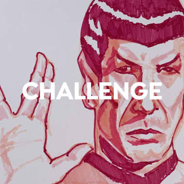 Challenge: dibujar al capitán Spock con tonos de rosa