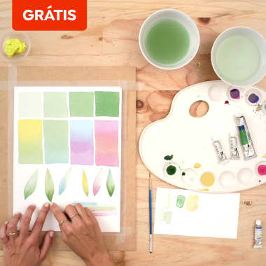 5 aulas grátis para aprender como criar sua paleta de cores com aquarela