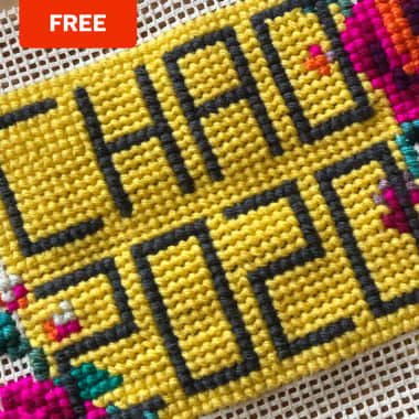Free Download: Cross-Stitch Pattern to Say Goodbye to 2020
