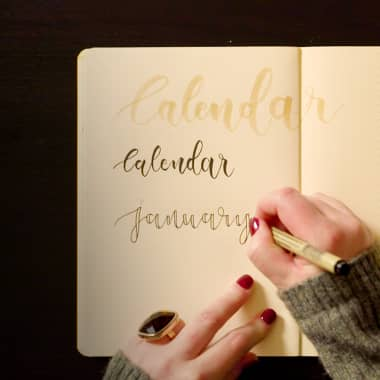 Bullet Journal Tutorial: Ideas To Improve Your Hand-Lettered Fonts