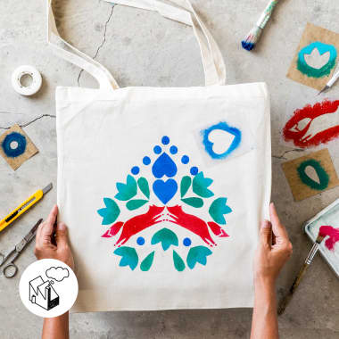 How to Create a Homemade Stencil for Stamping By Hand