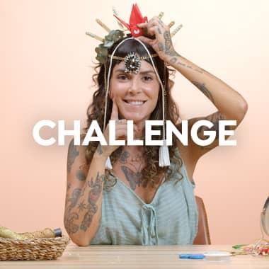 Domestika Challenge: crea una diadema de Carnaval con objetos insólitos