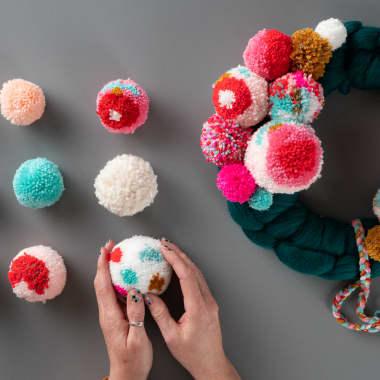 DIY Tutorial: How to Make a Spotted Wool Pom-Pom