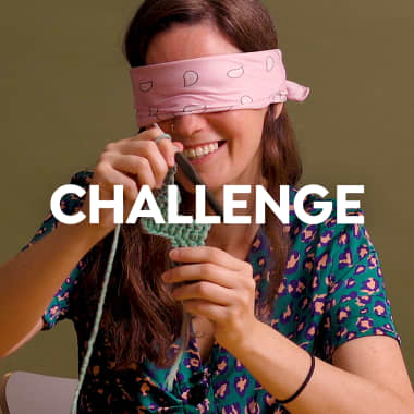 Challenge: tejiendo una pieza de crochet con ojos cerrados