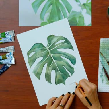 Watercolor Tutorial: Paint a Leaf, Step-by-Step