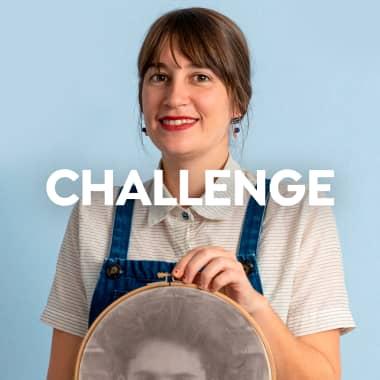 Challenge: bordando sobre una foto de Timothée Chalamet