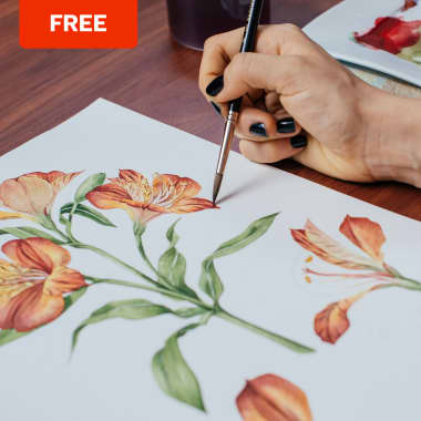 Free Guide to Learn How To Draw Flowers and Leaves
