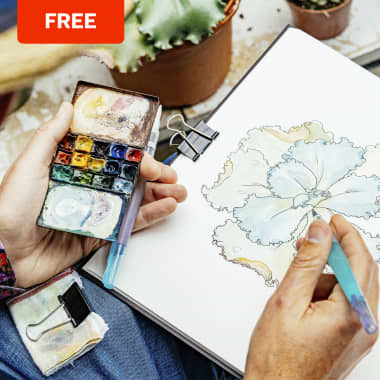 Free Watercolor Palette Guide: Botanical Sketchbooking