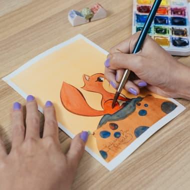 Materiales básicos para la ilustración infantil con acuarela