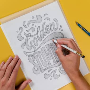 Tutorial Lettering: desenho de letras à mão com camadas
