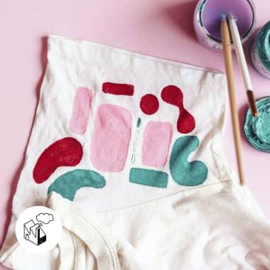 Cómo hacer sellos con material casero para estampar prendas