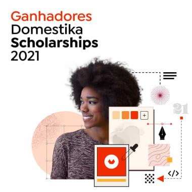 Estes são os ganhadores das Domestika Scholarships 2021!