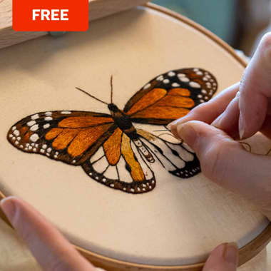 Free Butterfly Embroidery Pattern