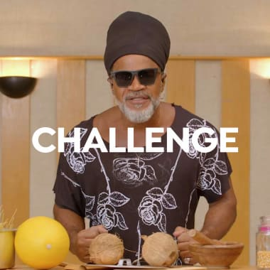 Challenge: Carlinhos Brown makes music with kitchen objects