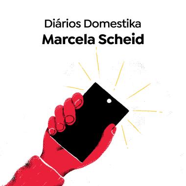 A artista Marcela Scheid, no Diários Domestika