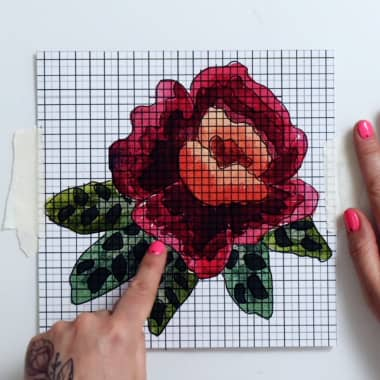 Embroidery Tutorial: How to Make Your Own Cross-Stitch Pattern