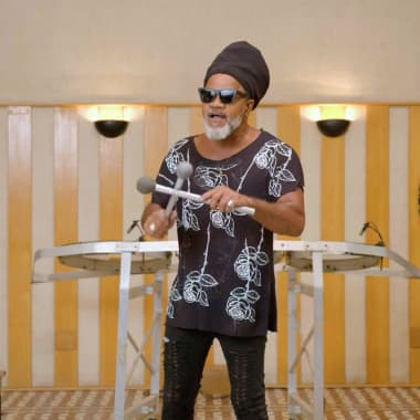 Carlinhos Brown Creates and Adapts His Own Instruments