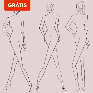 Download grátis: modelos de proporções e posições para ilustração de moda