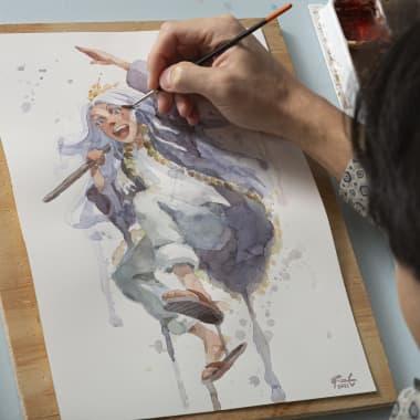 Materiales básicos para dibujo manga en acuarela