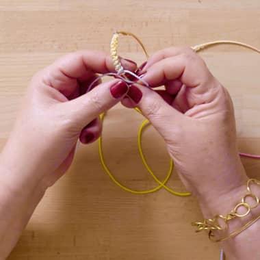 Macramé Tutorial: How to Decorate a Hoop Earring