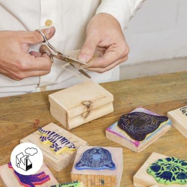Cómo hacer una composición modular con sellos caseros