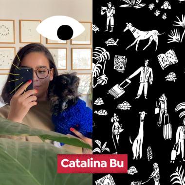 Os traços simples para ideias complexas de Catalina Bu, no Diários Domestika