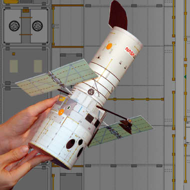 Build Your Own Scale Model of NASA's Hubble Space Telescope