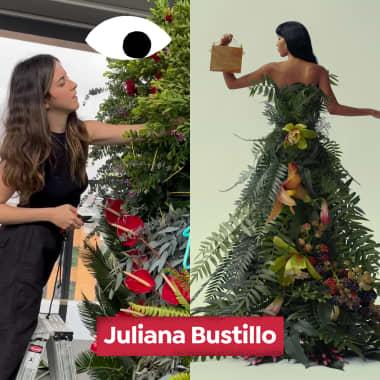 Descubra o trabalho da florista Juliana Bustillo, neste Diários Domestika