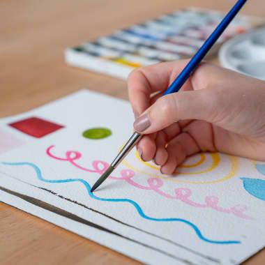 4 ejercicios básicos de pintura con acuarela para principiantes