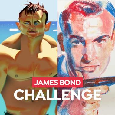 Domestika Challenge: dibuja tu James Bond favorito