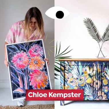 Chloe Kempster dá vida nova a um móvel antigo, no Diários Domestika